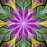 Stubarwny kwiatu wzór w witrażu okno stylu Ty c ilustracja wektor