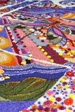 Stubarwny kwiecisty dywan obrazy royalty free