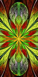 Stubarwny Piękny fractal wzór w witrażu okno s Fotografia Royalty Free