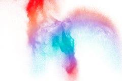 Stubarwny prochowy cząsteczka wybuch na białym tle zdjęcie stock