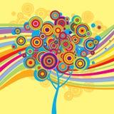 stubarwny tła drzewo ilustracji