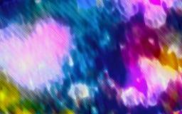 Stubarwny tło z czerwonym błękitnym koloru żółtego wzorem Obraz Royalty Free