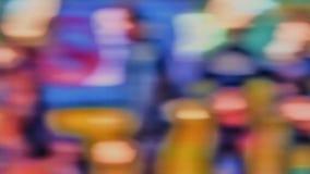 Stubarwny tło z zamazaną czerwoną błękitną żółtą teksturą Zdjęcie Royalty Free