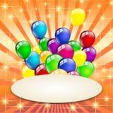 Stubarwny urodzinowy balonu przyjęcie Fotografia Stock