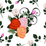 Stubarwnych róż bezszwowy wzór Zdjęcia Royalty Free