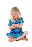 Stubborn. Cute little four year old girl refusing to listen Stock Photo