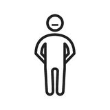 Stubborn. Angry, rude icon  image. Can also be used for Personality Traits. Suitable for web apps, mobile apps and print media Stock Images