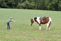 Stubborn horse Royalty Free Stock Image