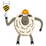 Stubborn Lamb Builder Vector. Stubborn Lamb Builder. Sheep professional character. Vector illustration of stubborn constraction worker Royalty Free Stock Photos