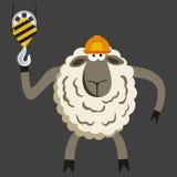 Stubborn Lamb Builder Vector. Stubborn Lamb Builder. Sheep professional character. Vector illustration of stubborn constraction worker Stock Photo