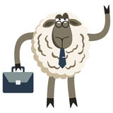 Stubborn Lamb Businessman Boss Vector. Stubborn Lamb Stubborn Lamb Businessman Boss. Sheep character. Vector illustration of stubborn sheep boss isolated on Royalty Free Stock Photography