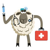 Stubborn Lamb Doctor Vector Stock Images