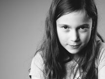 Stubborn little girl Royalty Free Stock Photo