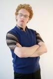 Stubborn nerd Royalty Free Stock Image