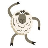 Stubborn Silly Dance Lamb Vector Royalty Free Stock Images