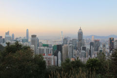 Stubbs Road lookout wan chai Royalty Free Stock Photography