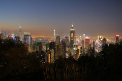 Stubbs Road lookout wan chai Royalty Free Stock Photos