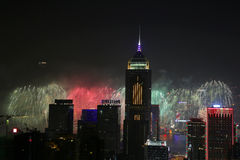 Stubbs Road lookout wan chai firework Stock Images