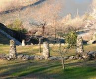 Stubby stone columns Stock Photography