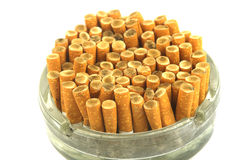 Stubs in a ashtray Stock Image