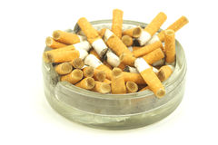 Stubs in ashtray Royalty Free Stock Photo