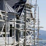 Stuc à la maison neuf de construction de Chambre Images stock