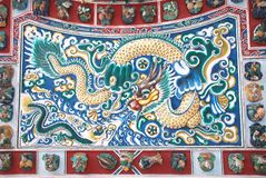 Stuc chinois de dragon photographie stock