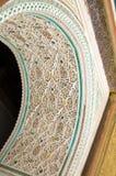 stuc de palais du Bahia Marrakech Photographie stock