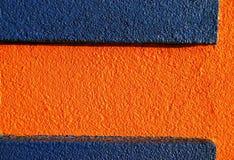 Stucco arancione & blu 1 Fotografia Stock Libera da Diritti