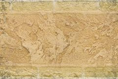 Stucco on bricks background Royalty Free Stock Images
