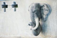 Stucco capo dell'elefante fotografia stock libera da diritti