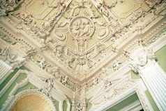 Stucco ceilings in the Moika Palace, St. Petersburg Stock Photo