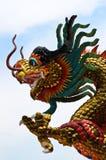 Stucco cinese del drago Fotografie Stock Libere da Diritti