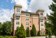 Stucco Condos in Evergreens Stock Photos