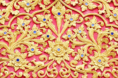 Stucco design of native thai style Stock Photo