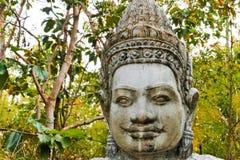 Stucco di Naka Demon Deva God, punto della scala del cemento immagine stock libera da diritti