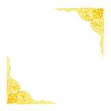 Stucco golden sculpture decorative pattern wall design Royalty Free Stock Photos