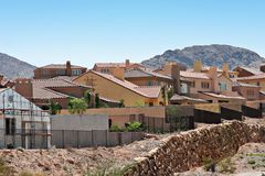 Stucco homes. Neighborhood view in Southwest USA Royalty Free Stock Photos