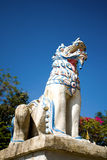 Stucco Lion in temple Stock Image