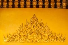 Stucco los modelos en las paredes del templo. Fotografía de archivo libre de regalías