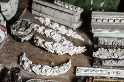 Stucco molding workshop Stock Images