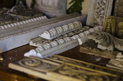 Stucco molding workshop Stock Photo
