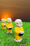 Stucco monks alms Royalty Free Stock Photos