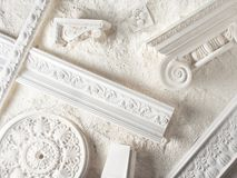 Stucco moulding royalty free stock images