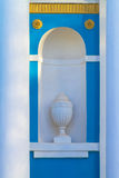 Stucco moulding planter in a alcove Stock Image