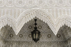 Stucco ornaments of a Riad in Fes Royalty Free Stock Photo