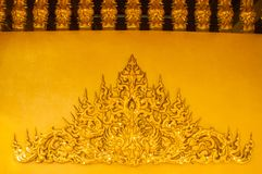 Stucco patterns on the walls of the temple. Royalty Free Stock Photography