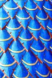 Stucco a serpent scales. Royalty Free Stock Image