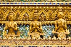 Stucco siamesische Kunstart im großartigen Palast Thailand Lizenzfreie Stockfotos