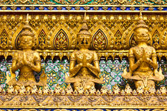 Stucco Thai Art Style In Grand Palace Thailand Royalty Free Stock Photos